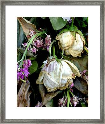 Faded Beauty Framed Print by Valerie Fuqua
