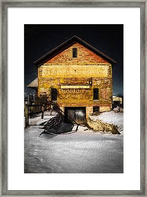 Faded Past-textured Framed Print