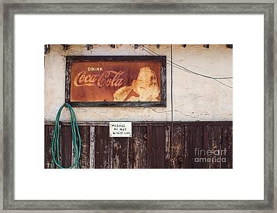 Faded Refreshment Framed Print by Scott Nelson