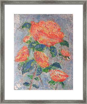 Faded Roses Framed Print by Chris Rice