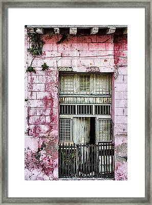 Faded Rouge Framed Print by Dawn Currie
