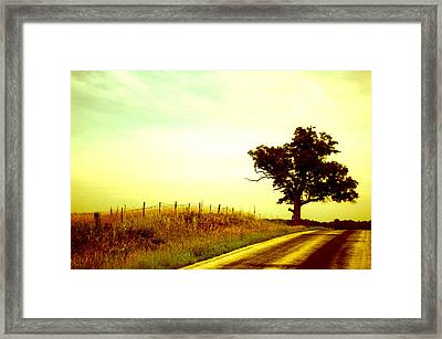 Faded Sky Framed Print