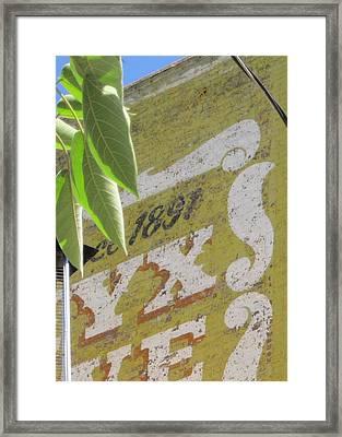 Faded Wall Framed Print by John Adams