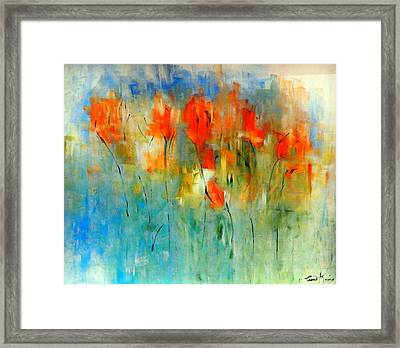 Faded Warm Autumn Wind Framed Print