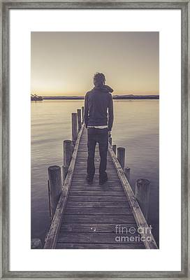 Faded Winter Pier Portrait Framed Print by Jorgo Photography - Wall Art Gallery
