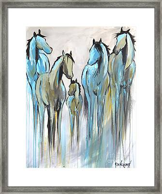 Framed Print featuring the painting Fading 2 by Cher Devereaux