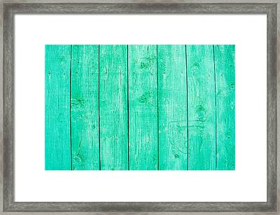 Framed Print featuring the photograph Fading Aqua Paint On Wood by John Williams