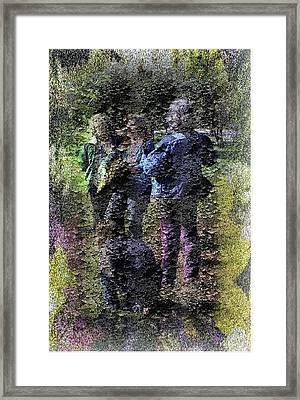 Fading Flower Children Framed Print by Kathleen Romana