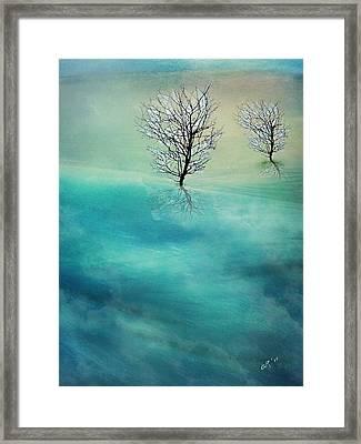 Fading Hills Framed Print