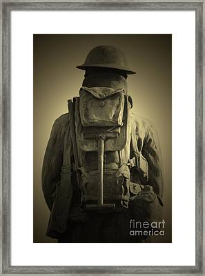 Fading Into The Silence Framed Print by C E Dyer