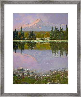 Fading Light - Peaceful Moment Framed Print by Kenneth Shanika