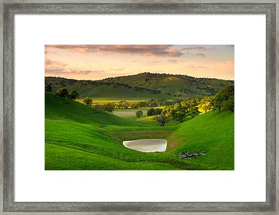 Fading Light At Round Valley Framed Print by Marc Crumpler