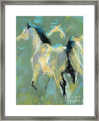 Fading Out To Three Framed Print by Frances Marino