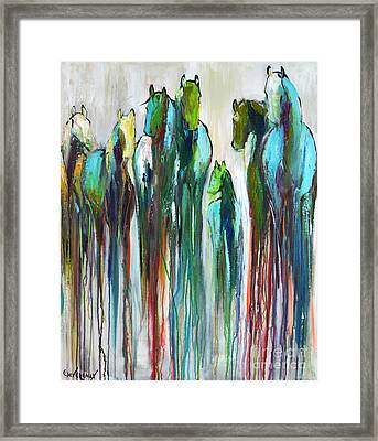 Framed Print featuring the painting Fading Souls by Cher Devereaux