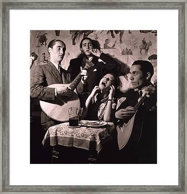 Fado Singer In Portuguese Night Club Framed Print by Everett
