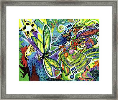 Faerie Lyric And Her Magical Kingdom Framed Print by Genevieve Esson