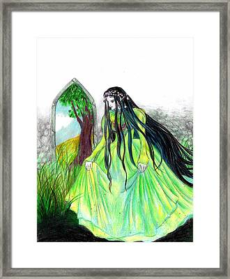 Faerie Queen Framed Print by Rebecca Tripp