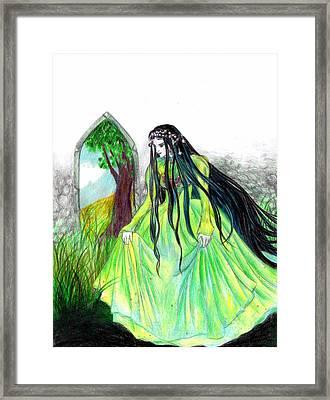 Faerie Queen Framed Print by Rebecca Tripp