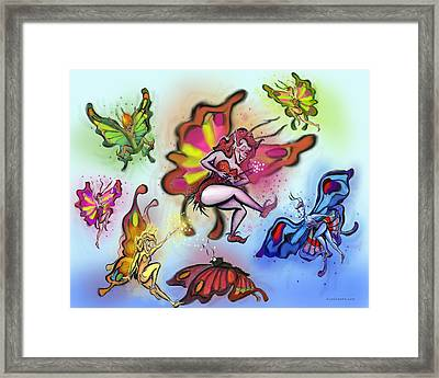 Framed Print featuring the painting Faeries by Kevin Middleton