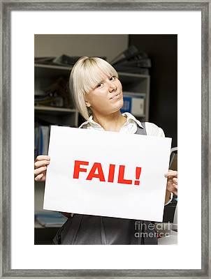 Fail Framed Print by Jorgo Photography - Wall Art Gallery