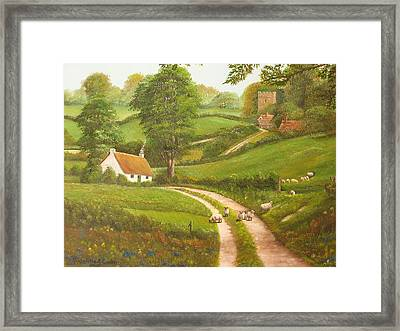 Failte Romhat  Welcome Framed Print by Charolette A Coulter