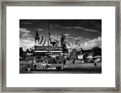 Fair Food In Black And White Framed Print