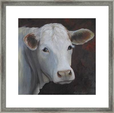 Fair Lady Cow Painting Framed Print