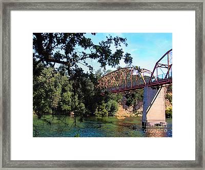 Fair Oaks Bridge Framed Print by Anthony Forster