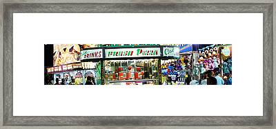 Fair Panorama Framed Print by Lynda Dawson-Youngclaus