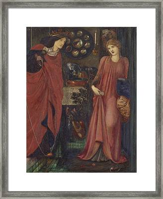 Fair Rosamund And Queen Eleanor Framed Print