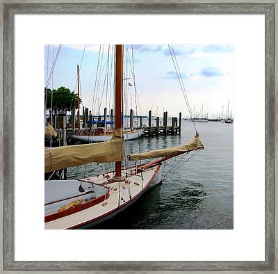 Fair Weather Annapolis  Framed Print
