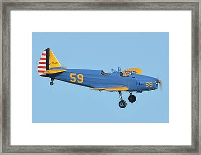 Fairchild Pt-19a N11cm Chino California April 29 2016 Framed Print by Brian Lockett