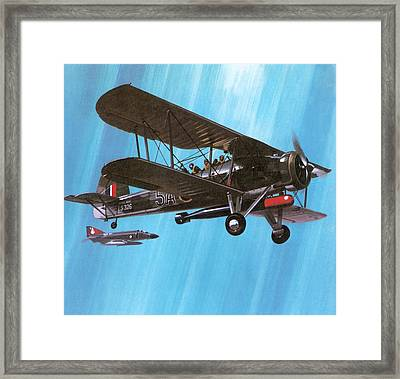 Fairey Swordfish Framed Print by Wilf Hardy