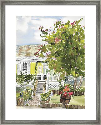 Fairfield Cottage Framed Print by Anji Worton