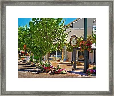 Fairhope Ave With Clock Looking North Up Section Street Framed Print