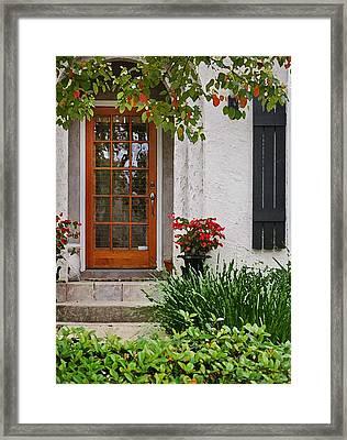 Fairhope Doorway Framed Print by Michael Thomas