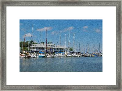 Fairhope Yacht Club Impression Framed Print