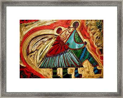 Framed Print featuring the mixed media Fairie Messengers by Clarity Artists