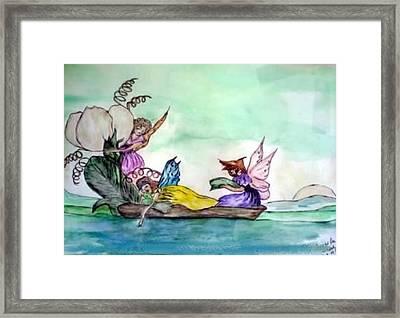 Fairies At Sea Framed Print