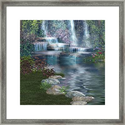 Fairies Hidden Lake Framed Print