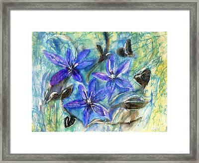 Fairies In The Garden Framed Print by Joanna White