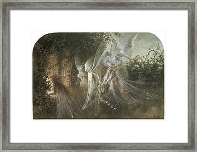 Fairies Looking Through A Gothic Arch Framed Print by John Anster Fitzgerald