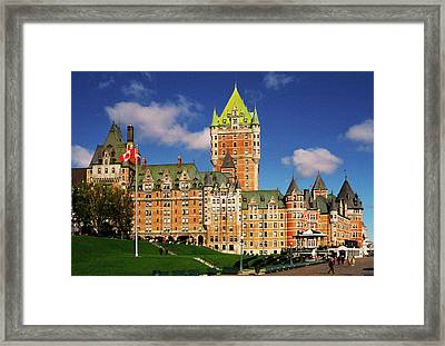 Fairmont Le Chateau Frontenac Framed Print by Juergen Weiss