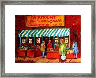 Fairmount Fruit And Vegetables Framed Print by Carole Spandau