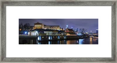 Fairmount Waterworks And Art Museum At Night Framed Print by Bill Cannon