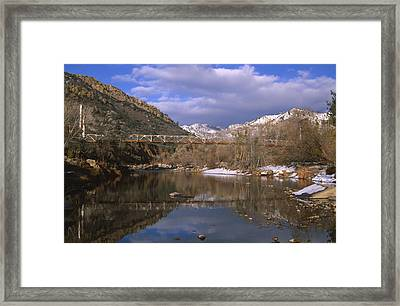 Fairview Bridge - North Fork Kern River Framed Print by Soli Deo Gloria Wilderness And Wildlife Photography