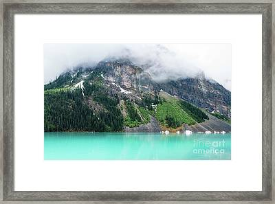 Fairview Mountain Above Lake Louise Framed Print by Mike Reid