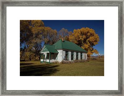 Fairview School Gunnison County Framed Print