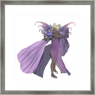 Fairy Addiena On White Framed Print by Corey Ford