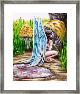 Fairy Amongst Poison Framed Print